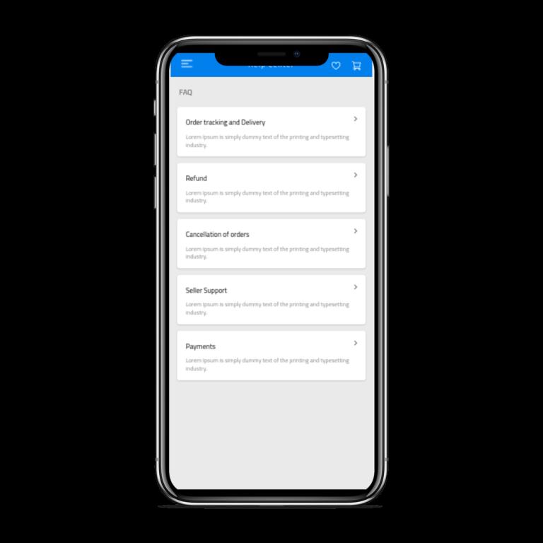 تطبيق موبايل لمتجر إلكتروني متعدد الاستخدامات الاسئلة