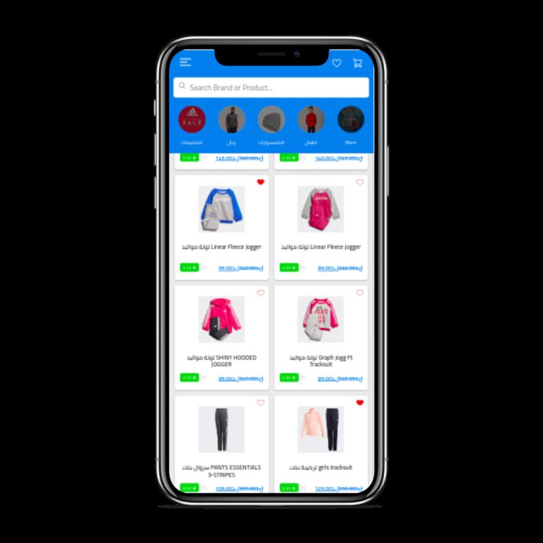 تطبيق موبايل لمتجر إلكتروني متعدد الاستخدامات الرئيسية