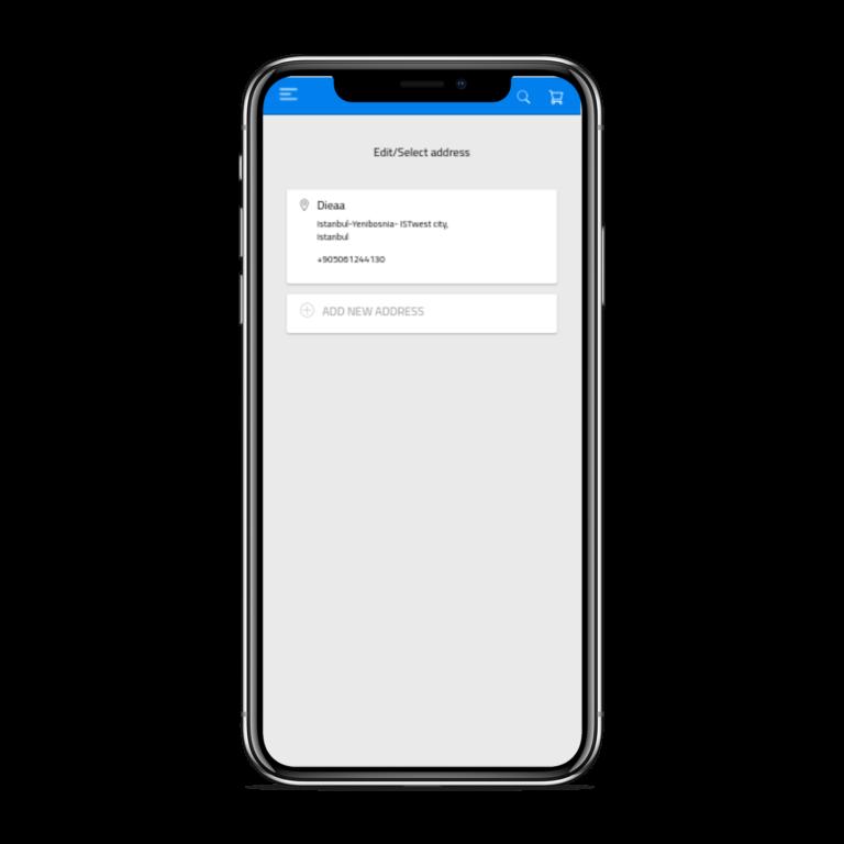 تطبيق موبايل لمتجر إلكتروني متعدد الاستخدامات العنوان