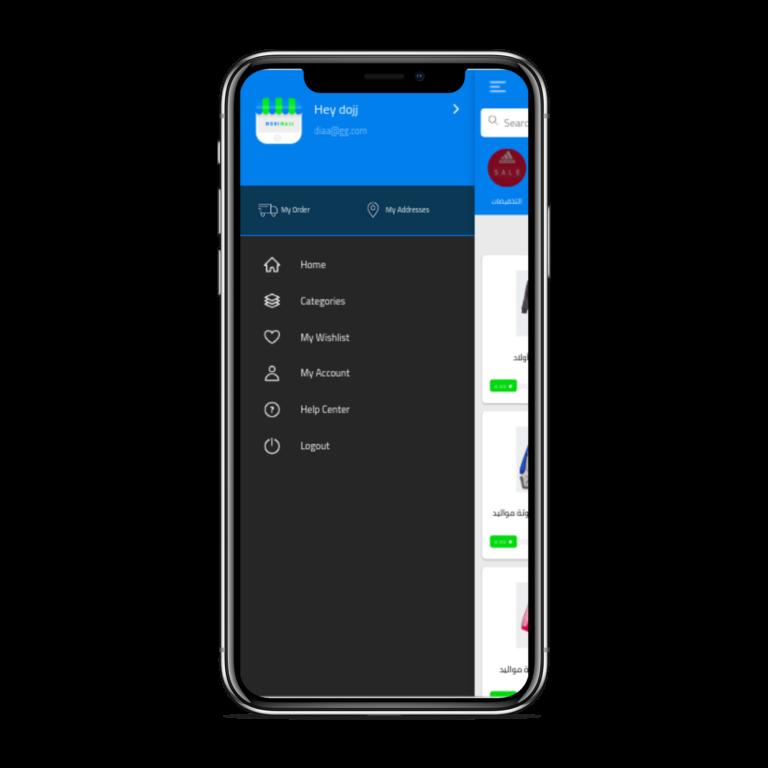 تطبيق موبايل لمتجر إلكتروني متعدد الاستخدامات القائمة